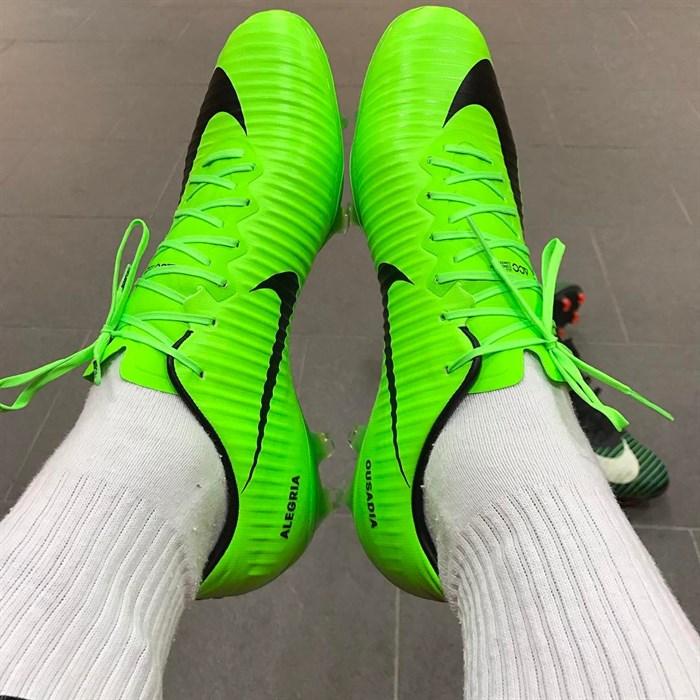 Fel groene Nike Mercurial Vapor 11 voetbalschoen Voetbal