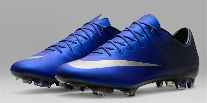 newest baaf7 89c97 Blauwe Nike Mercurial Vapor X CR7 Voetbalschoenen