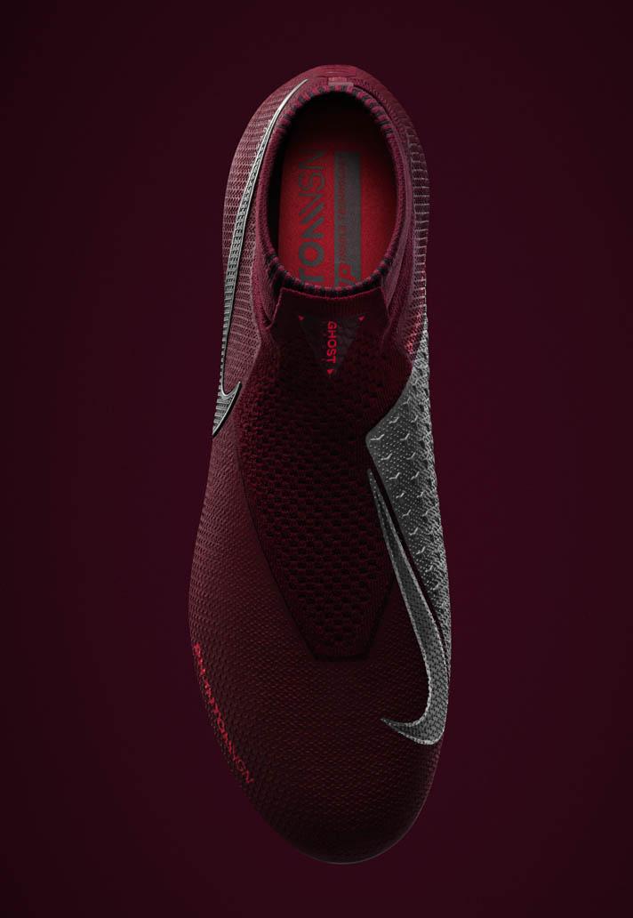 Bordeaux rode Nike PhantomVSN voetbalschoenen Voetbal
