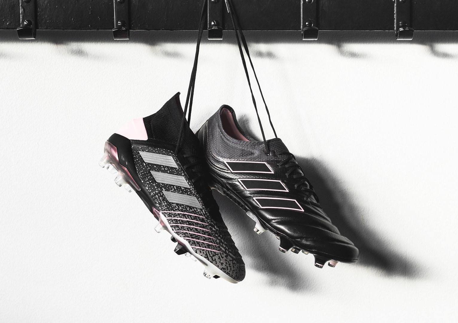 adidas lanceert zwart roze Predator voetbalschoe Voetbal